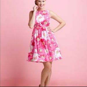 Lilly Pulitzer fit and flare dress.